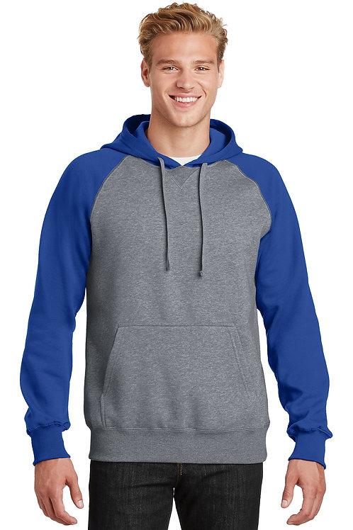 ST267  Sport-Tek® Raglan Colorblock Pullover Hooded Sweatshirt