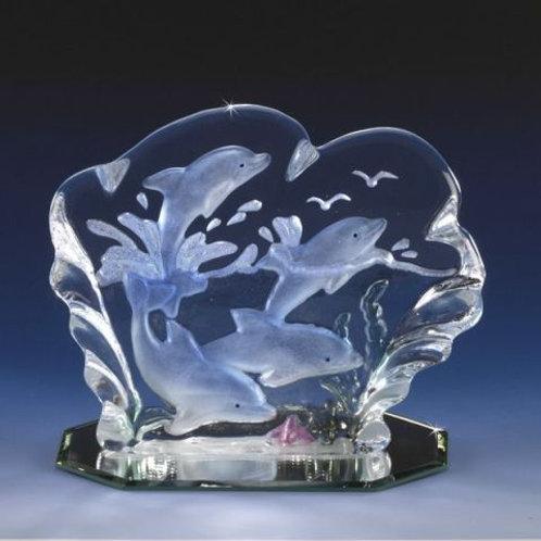 Waverunners Four Iceberg Paperweight Glass