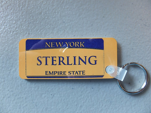 Personalized Plate Key Chain