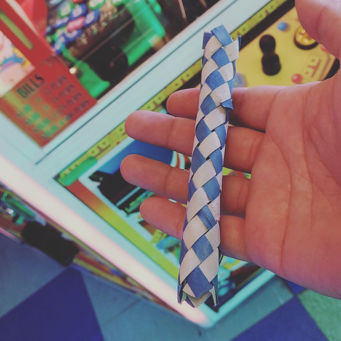 Who knew finger traps were wooden!