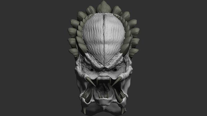 Predator Head Sculpt