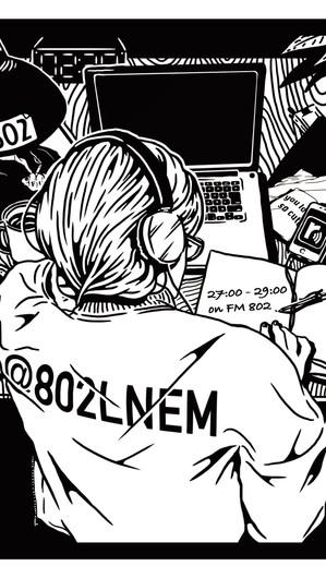 FM802LNEMステッカー