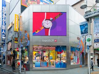 渋谷SWATCH 内装外装デザイン