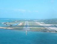 Vista del aeropuerto de Jamaica en Montego Bay