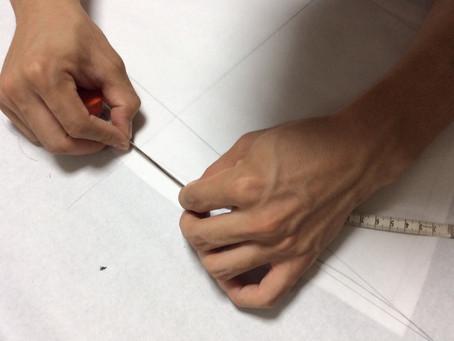 洋裁初心者の授業の進め方2(教室のサンプル服からの展開の場合)