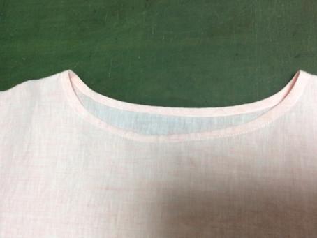 洋裁初心者の授業の進め方5(教室のサンプル服からの展開の場合)