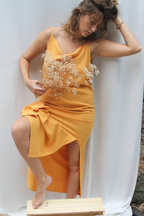 Vestido Madalena Mostarda