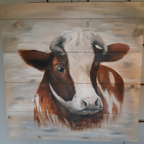 Bonte koe rood 50x50