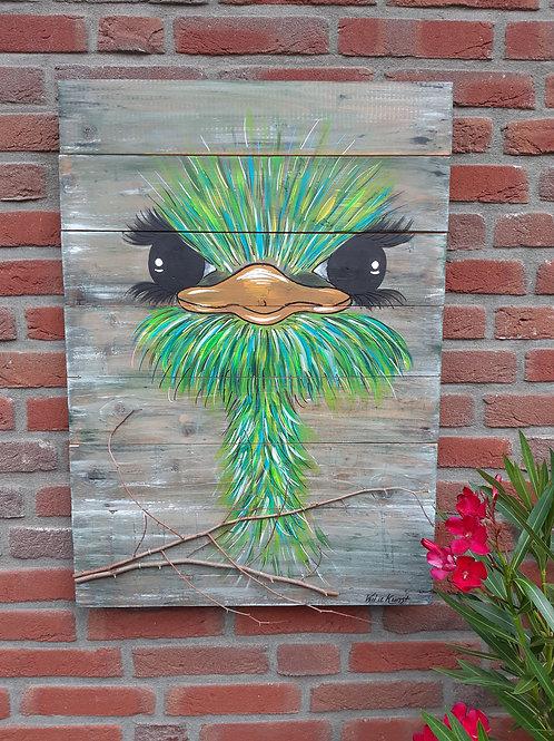 Struisvogel 68x50