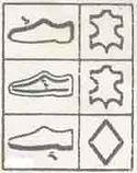 shoe material guide