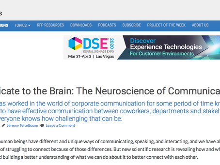 Communicate to the Brain: The Neuroscience of Communication