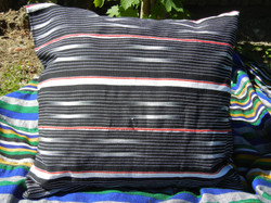 Black and white hand woven