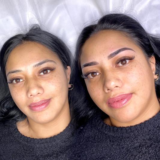 Combination brow tattoo