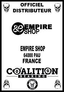 Coalition Bearing Distritution officiel EMPIRE SKATESHOP
