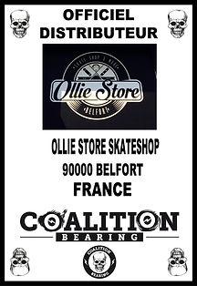Coalition Bearing Distritution officiel OLLIE STORE SKATESHO
