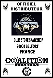 Coalition Bearing Distritution officiel OLLIE STORE SKATESHO