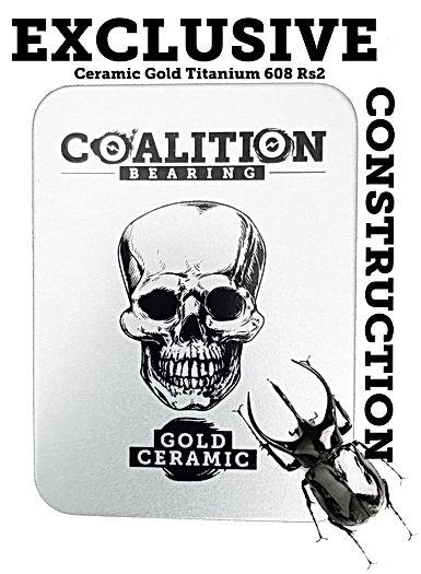 Ceramic Gold Titanium 608rs2 Coalition Bearing