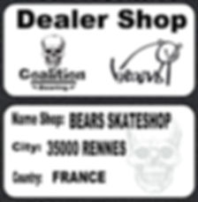 Roulement à billes skate  Coalition Bearing BEARS skateshop 35000 rennes france coalition bearing dealer shop