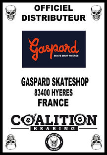 Coalition Bearing Distritution officiel GASPARD SKATESHOP