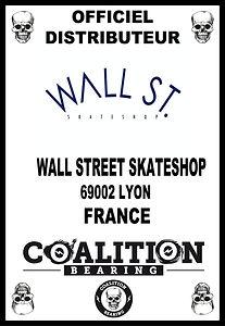 Coalition Bearing Distritution officiell wall street skateshop