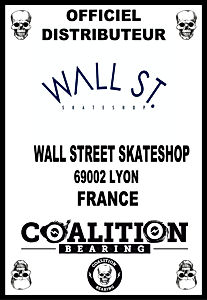 Coalition Bearing Distritution officiell wall street skateshop