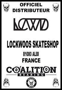 COALITION BEARING Distritution officiel LOCKWOOD SKATESHOP