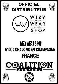 Coalition Bearing Distritution officiel WIZY WEAR SKATESHOP