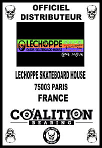 Coalition Bearing Distritution officiel lechoppe skateshop