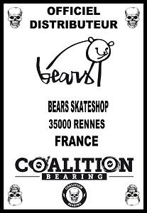 Coalition Bearing Distritution officiel BEARS SKATESHOP
