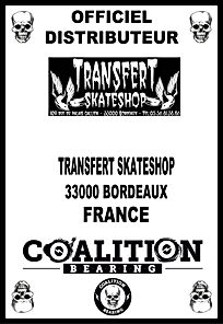 Coalition Bearing Distritution officiel TRANSFERT SKATSHOP