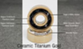 Ceramic titanium Gold roulements  à billes.
