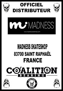 Coalition Bearing Distritution officiel MADNESS SKATESHOP