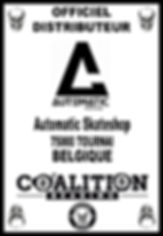 Coalition Bearing Distritution officiel AUTOMATIC SKATESHOP BELGIQUE
