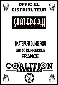 Coalition Bearing Distritution officiel SKATEPARK DUNKERQUE