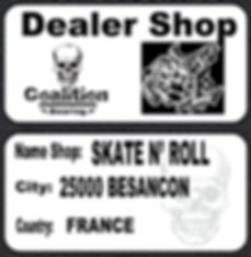 Roulement à billes skate  Coalition Bearing  N' ROLL BESANCON COALITION BEARING