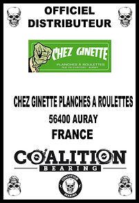 Coalition Bearing Distritution officiel CHEZ GINETTE
