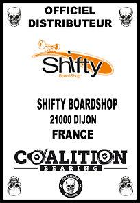 Coalition Bearing Distritution officiel shifty skateshop