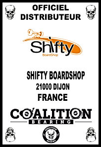 Coalition Bearing Distritution officiel shifty skateshop