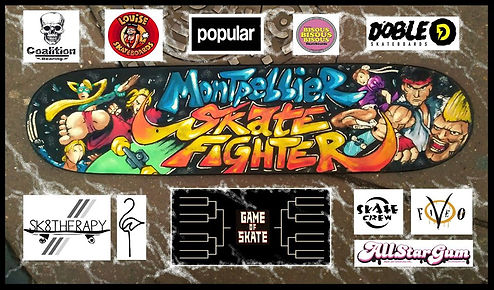 Montpellier skate fighter Coalition Bearing support