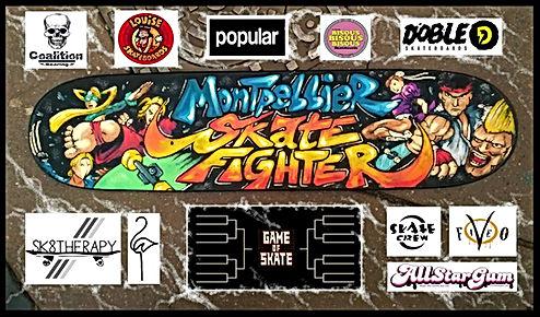 Montpellier skate fighter Coalition Bearing support