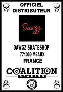 Coalition Bearing Distritution officiel DAWGZ SKATESHOP