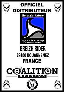 Coalition Bearing Distritution officiel breizh rider skateshop