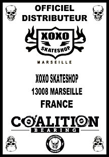 Coalition Bearing Distritution officiel XOXO SKATESHOP
