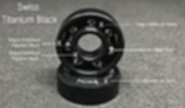 Croquis Swiss Titanium black roulements