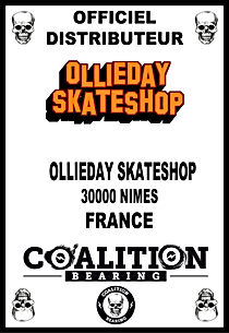 Coalition Bearing Distritution officiel OLLIEDAY SKATESHOP