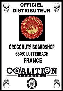 Coalition Bearing Distritution officiel  CROCONUTS SKATESHOP