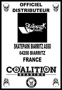 Coalition Bearing Distritution officiel SKATEPARK BIARRITZ