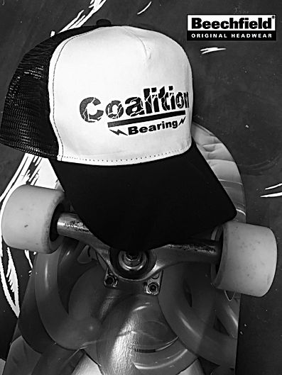 Coalition Bearing Cap Truck Black print