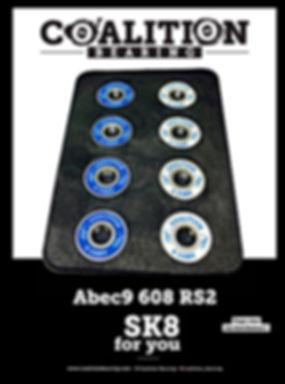 COALITION BEARING  abec9 608rs2