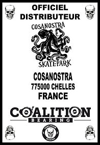 Coalition Bearing Distritution officiel COSANOSTRA SKTEPARK